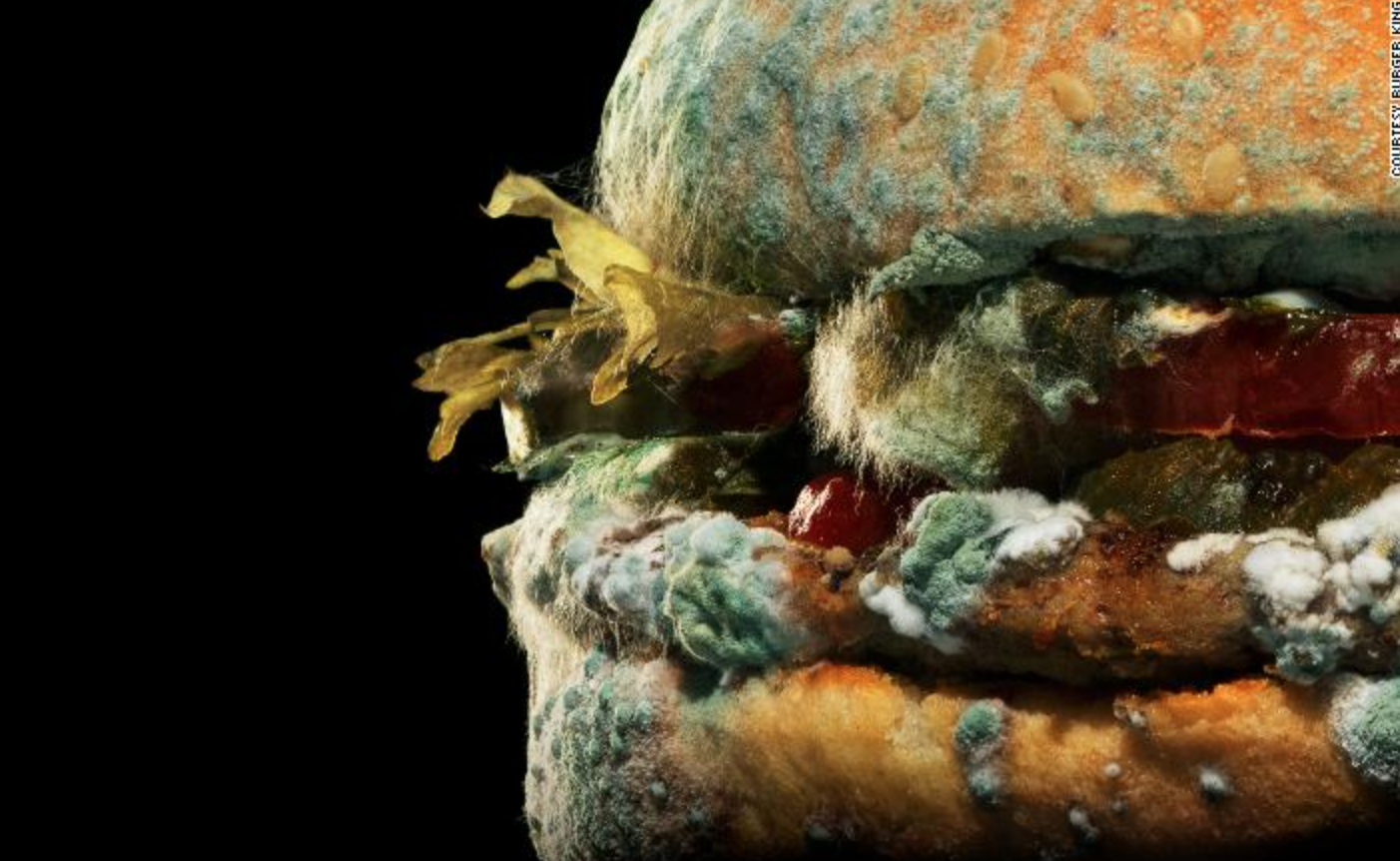 Burger King auglýsir rotnandi hamborgara