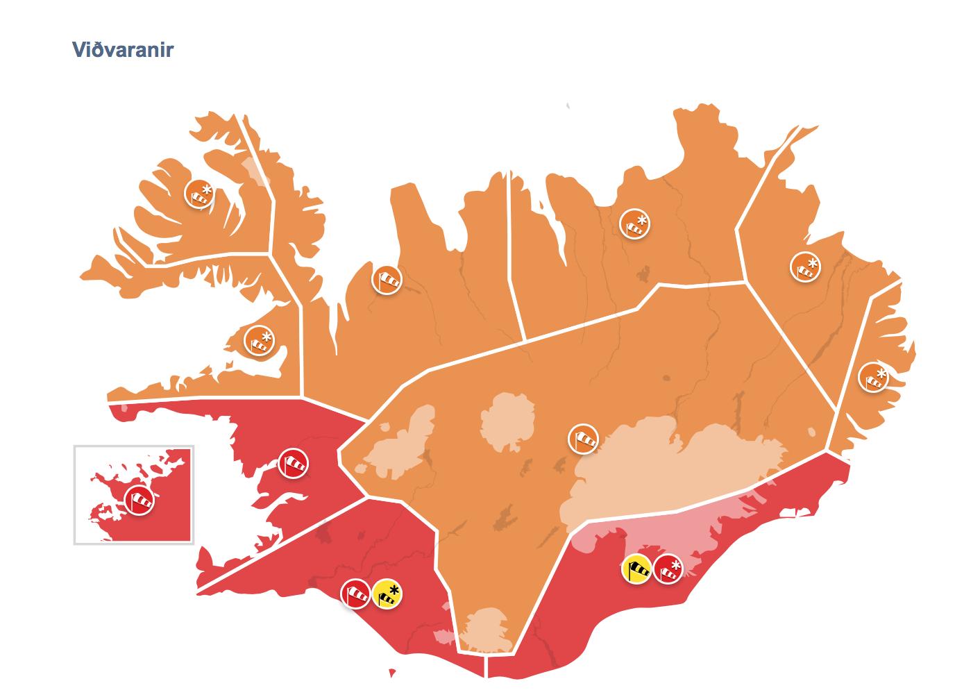 Veðrið: Uppfært í rautt meðal annars á höfuðborgarsvæðinu
