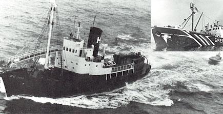 Hvalur h.f. fær farbann á skip Greenpeace