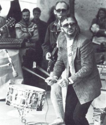 Ringo barði trommur í Atlavík