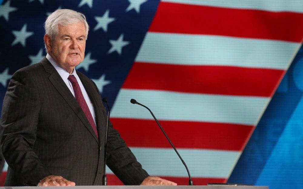 """Newt Gingrich segir að Trump muni vinna """"verulega meira"""" en búist væri við"""
