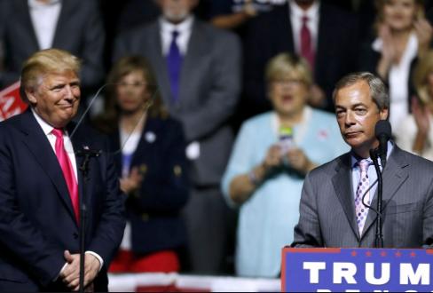 Nigel Farage veðjaði 10 þúsund pundum á að Trump vinni