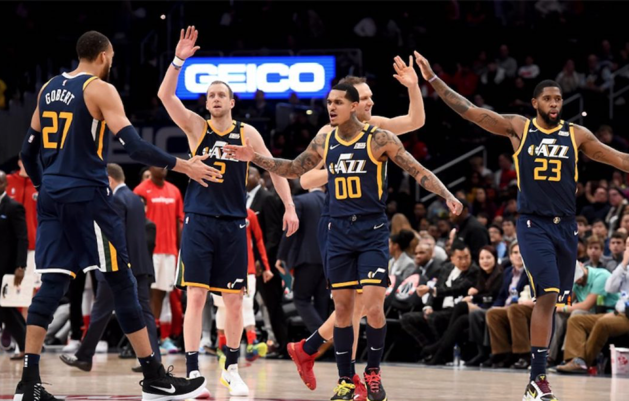 Nauðlenti með Utah Jazz