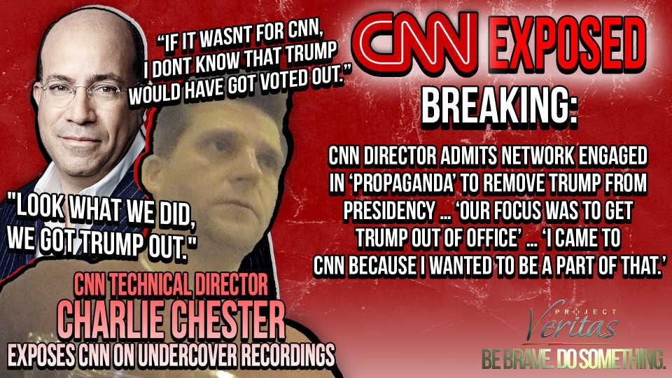 Yfirmaður hjá CNN segir áróður CNN hafa komið Trump úr embætti